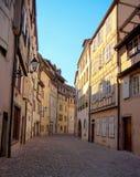 Colmar-romantische Stadt in Elsass stockbilder