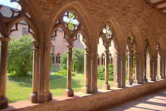 Colmar romantisk town i Alsace Arkivfoton