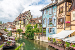 Through Colmar running the Lauch river Stock Images