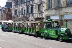 Colmar sightseeing train Stock Photo