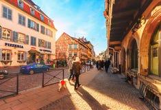 Colmar street scene Stock Images