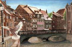 Colmar streets Stock Image