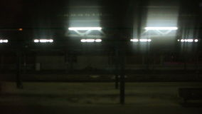 Colmar Train Station at night stock footage