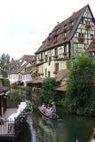 COLMAR un villaggio francese fotografie stock