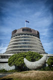 A colmeia, a asa executiva das construções do parlamento de Nova Zelândia Fotos de Stock Royalty Free