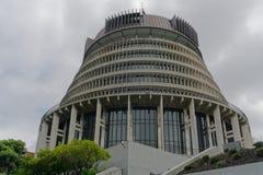 A colmeia - construção do parlamento de Nova Zelândia fotografia de stock