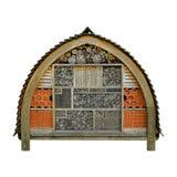 Colmeia da casa de madeira do jardim do hotel da abelha Fotos de Stock Royalty Free
