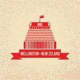 Colmeia - o símbolo de Wellington, Zeland novo ilustração do vetor