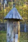 Colmena antigua en el bosque del otoño Foto de archivo