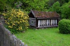 Colmena de la abeja del viejo estilo Imagen de archivo