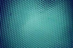 Colmena de la abeja en azul foto de archivo