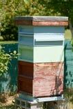 Colmena de la abeja en jardín Fotos de archivo libres de regalías