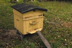 Colmena de la abeja en otoño Fotos de archivo libres de regalías