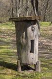 Colmena de madera antigua Foto de archivo