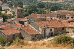 Colmenar de Montemayor. View of Spanish village Colmenar de Montemahor  from the hill Stock Photography