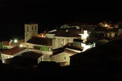 Colmenar de Montemayor. View of Spanish village Colmenar de Montemahor  in the night Stock Photos