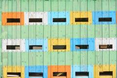 Colmenas coloreadas extracto Foto de archivo libre de regalías
