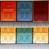 Colmenas del encargado de la abeja Fotografía de archivo