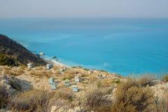 Colmenas en la isla de Lefkada Foto de archivo