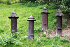 Colmenas históricas de la abeja Fotografía de archivo