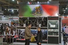 Colnago booth at Bike trade show Royalty Free Stock Photography