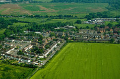 Colnbrook村庄,鸟瞰图 免版税库存图片