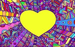 Colo decorativo romântico do arco-íris do coração do quadro Foto de Stock Royalty Free