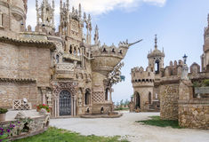 Colo Mares. Benalmadena, Spain - MAI 30, 2015: Castillo Monumento Colo Mares. This castle-shaped building is  a monument dedicated to Christopher Columbus, built Stock Photography