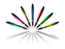 Colo rfountain  pen Stock Image