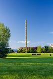 Coloana Infinitului park w Targ Jiu Rumunia obraz stock