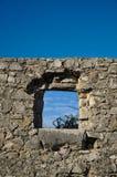 A colocação do canhão no forte faz o Rato Imagens de Stock Royalty Free