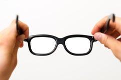 Colocação sobre vidros pretos Fotos de Stock Royalty Free