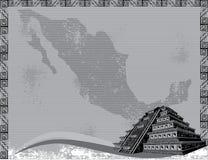 Coloca o estilo do grunge da pirâmide Fotos de Stock Royalty Free