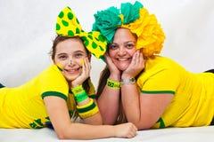 Colocación brasileña de las fans Fotos de archivo