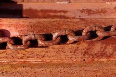 Cadena oxidada Fotografía de archivo libre de regalías