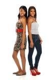 Colocación de dos mujeres jovenes Imagen de archivo libre de regalías
