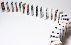 Colocación de los dominós Foto de archivo libre de regalías