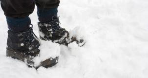 Colocación en nieve Fotos de archivo libres de regalías