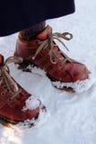 Colocación en nieve Imagenes de archivo