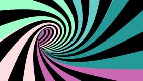 Colocación inconsútil de la ilusión espiral hipnótica stock de ilustración