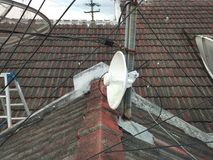 Colocación incorrecta Antena Wifi Fotos de archivo libres de regalías