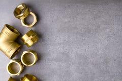 Colocaciones de cobre amarillo Imagenes de archivo