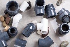 Colocaciones del sistema PVC-U Foto de archivo libre de regalías