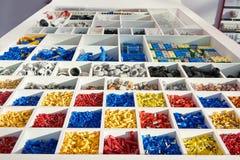 Colocaciones y piezas para el equipo eléctrico foto de archivo libre de regalías