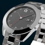 Colocando o relógio de prata do negócio Fotos de Stock