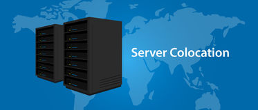 Colocation server web hosting services infrasctructure technology Royalty Free Stock Images