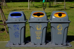The coloeful of recycle bin Stock Photos