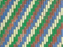 Coloerd tegelstenar som bakgrund Arkivfoto