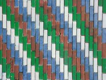 Coloerd tegelstenar som bakgrund Arkivbild