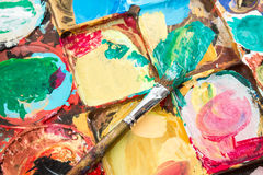 Coloerful palette. Of professional artist Royalty Free Stock Photo